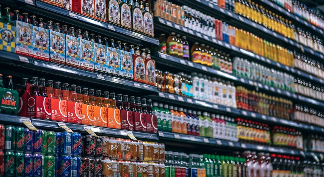 Sweetened Beverages On Store Shelves
