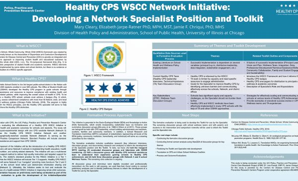 Healthy CPS WSCC Network Initiative: Developing a Network Specialist Position and Toolkit