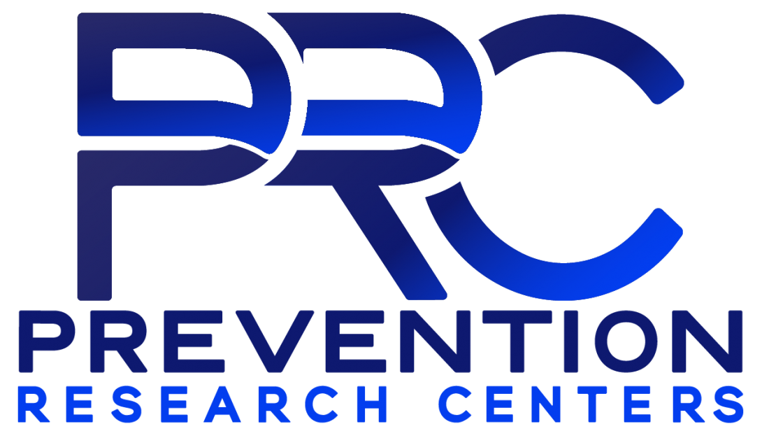 Prevention Research Centers Blue Logo with PRC in all caps