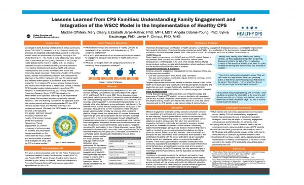 Lessons Learned from CPS Families: Understanding Family Engagement and Integration of the WSCC Model in the Implementation of Healthy CPS